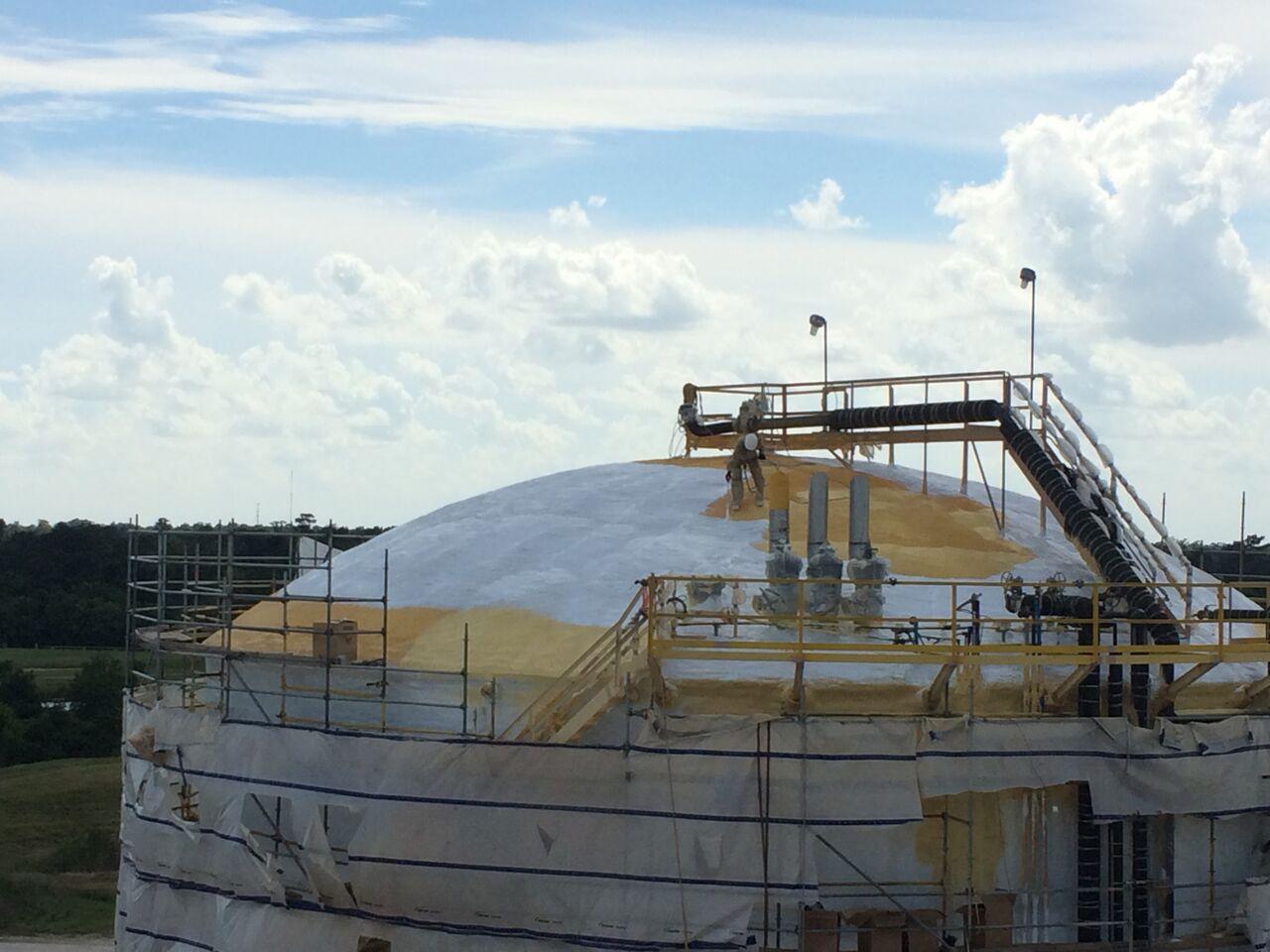 tanker spray foam roofing